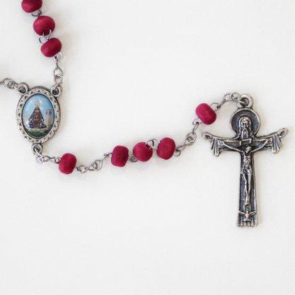 Terço perfumado - Nossa Senhora Aparecida e Sagrado Coração de Maria